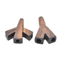 """""""Stoner"""" Doppia Tre Tre Trident Wooden Carette Conies Supporto Accessori per fumatori Portatile Custodia per il trasporto Nuovi Arrivi Portatile"""