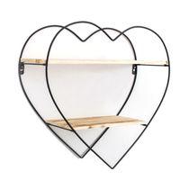 جديدة خشبية ريترو رفوف تخزين لتعليق ديكور تخزين مربع اناء للزهور على شكل قلب الخوخ الحديد والخشب جدار الجرف رفوف رف الكتب