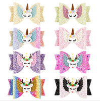 Hair Accessories for Girls Clips Unicorn Wing Children Princ...