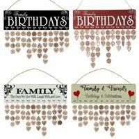 Madeira Feliz Aniversário Lembrete Entrar DIY Calendário Board Crafts calendário de parede Data Mark Partido Decoração Novidade Itens presentes