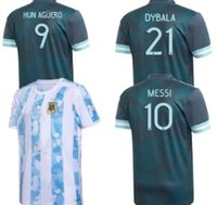 Hommes + Kids 2020 Argentine Away Soccer Jerseys Messi Dybala Kun Aguero Higuain 20 21 Chemises de football 2021 Camisetas Accueil