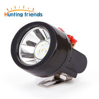12pcs / lot Caza Amigos recargable Cap Lámpara Minera impermeable LED Miner explosión de la lámpara del techo de la linterna al aire libre para los trabajos profesionales