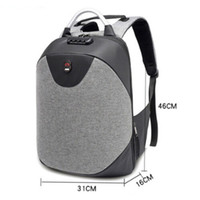 Mens Anti- theft Oxford Backpack School Bag Business Casual T...