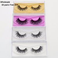 DHL grátis 50 pares Visofree Eyelashes 3D Mink Lashes Handmade Mink Dramatic Lashes 48styles cruelty free reutilizável wholsale