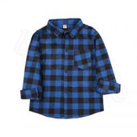 Детские клетки с длинным рукавом рубашки 9 стилей детские мальчики девочек хлопок повседневные топы футболки блузка ooa6337