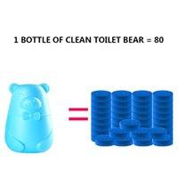 80pcs Mavi Balon Tuvalet Deodorant Tuvalet Sıvı Önleme Bitki Özü Sarı Ölçek Taze Aktif Faktör Toksik olmayan Ayı şişe
