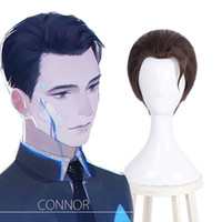 Detroit: Become RK800 Connor Cosplay Full Wig Short Straight...
