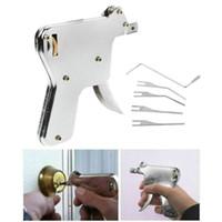 6 قطع قفل بيك بندقية مجموعة باب عثرة مفتاح الأقفال أدوات اليد أداة قفل فتحة قفل إصلاح أداة كيت