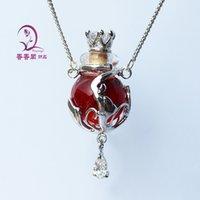 1PCS en verre de Murano parfum collier coloré Ball, bijoux flacon Aroma, collier pendentif Aroma