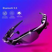 bluetooth 5.0 Kulaklık Kulaklık X8S Kulaklık Akıllı Gözlük ile Mikrofon İçin ourdoor Sürüş / Bisiklet iyi hediye ile Müzik güneş gözlüğü
