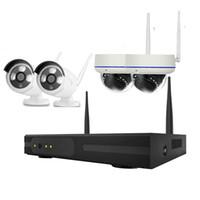CCTV IP كاميرا لاسلكية كيت wifi 4ch في الهواء الطلق HD 960P NVR نظام الأشعة تحت الحمراء في الهواء الطلق و داخلي P2P IP كاميرا نظام الأمن كيت