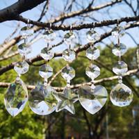 20 PCS Lustre de Cristais Lâmpada Prismas Peças Penduradas Suncatcher Pingente de Cristal com 3 Contas de Octógono Peças de Iluminação Acessórios WQM183