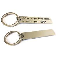 Drive Safe Keychain bonito eu te amo Bones Marido presente para o marido pai presente Valentines Day Stuffer da meia