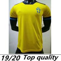 2019 2020 Sweden Ibrahimovic Soccer Jerseys 2018 Chemise de football suédois Johansson Johnsson Guidetti Forsberg Berg Larsson Maillots de pied