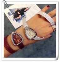 핫 라인 석 시계 고급 스네이크 시계 크리스탈 여성 시계 쿼츠 뱀 다이아몬드 시계 가죽 끈 시계