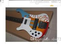 사용자 정의 멀티 컬러 4 문자열 릭 전기베이스 기타에 손으로 무료 배송 새로운 품질 악기