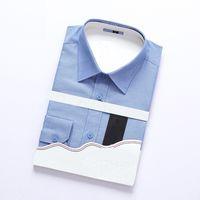 Shirt tamanho grande 2019 novos homens camisa Collar Vestido Moda manga comprida premium 100% Shirting dos homens do algodão