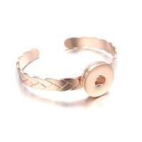 Moda Değiştirilebilir Bilezik Zencefil Bakır Bileklik 097 Kadınlar Takı Hediye Için 18mm Snap Düğmesi Takılar BraceletBangles