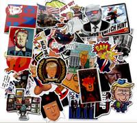 55 PC Trump etiquetas engomadas del coche divertido de graffiti para el ordenador portátil del cojín del monopatín motocicleta de la bicicleta PS4 Teléfono equipaje Decal PVC guitarra etiqueta de parachoque