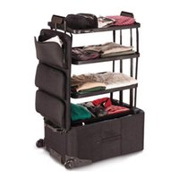 Super large capacity rolling luggage travel baggage 3 layes ...