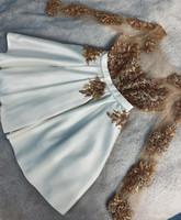 2019 arabische spitze homecoming kleider lange ärmel perlen graduation kleider kurze a-line cocktail party kleid benutzerdefinierte größe