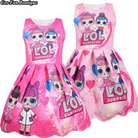 Pink Girls Dress Spring And Ssummer Holiday Children Clothin...