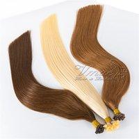 Straight 613 Blonde Brown Europeo europeo brasileño Doble Keratin Fusion Pre unido Remy Virgin Flat Pey Pein Human Hair Extensions