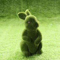 정원 토끼 장식 토끼 인공 시뮬레이션 공장 부활절 토끼 장식 잔디 인테리어 파티오 액세서리 홈 장식 녹색 토끼