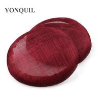 MARRONまたは16色15 cmラウンドパーティー魅力的な魅力的なベースSinamay Make女性DIY魅力的な帽子ウェディングロイヤルヘッドウェア5PCS /ロット
