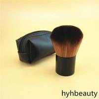 Les Belges RETRATTILE Kabuki Brush Box pacchetto di bellezza cosmetici trucco spazzole Blender con il caso di trasporto imballaggio pacchetto