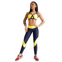Designer Mode Reflektierende Patchwork Anzug Frauen Crop Top und dünne Gamaschen Zwei Stücke Set Sexy Fitness entspricht Trainingsanzügen