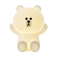 Ins Sıcak Yaratıcı Çizgi Arkadaş Kahverengi Ayı Cony Tavşan LED Gece Lambası USB Şarj Silikon Başucu Lambası Ev Yatak Odası Masa Lambası
