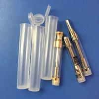 Ecig Bambino Resistente tubo di plastica di compressione Pop Top Bottiglia Doob Cono del tubo sigaretta elettronica di stoccaggio caso vaporizzatore Cartridge Pen Packaging