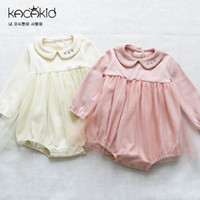 ef5803766bb1 2019 New Summer Girls Romper Baby Girl Striped Lace Sling Rompers ...