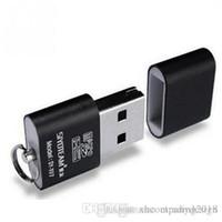 휴대용 미니 USB 2.0 마이크로 SD TF T-Flash 메모리 카드 리더 어댑터 플래시 드라이브 SD 플래시 메모리 도매 블랙