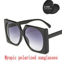 bfc3ebe5d2fd2 2019 Hot Custom Made Miopia Minus Prescrição Lente Polarizada óculos de Sol  para as mulheres Designer de Condução Do Vintage Óculos de Sol Masculino FML