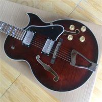 Nuova alta qualità Jazz Electric Guitar Guitar Body Hollow, Vendita calda Guitarra Bianco Binding Binding Cinese OEM Strumenti musicali OEM