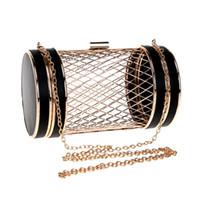 Мода женщины выдалбливают дизайн день клатчи PU цепи плеча сумки свадьба вечерняя сумка кожа причинно-следственная сумка
