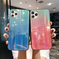 Aurora Laser Gradient for iPhone 11 Pro Max Case Fashion Tem...