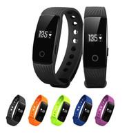 ID107 Smart-Armband-Uhr-Fitness Tracker Herzfrequenzmesser Pedometer Armbanduhr für iPhone und Android Smart-Phone Watch