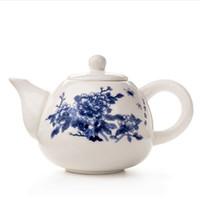 Teteras de cerámica Yixing el pote del té de porcelana blanca de té del chino de la tetera único Hervidor Kung Fu Juego de té Infuser de China tazas de té D001