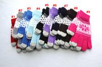 Gants capacitifs à l'écran tactile à tricoter Femme hiver Gants de laine chaude antidérapante Telefingers tricotés de Christmas Snowflake Glove Ljja3511-6