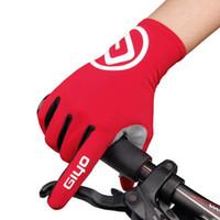 Luvas curtas bicicleta GIYO Anti Slip Gel Pad dedo longo respirável Outdoor boa qualidade frete grátis