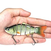 6 Segment Swimbait Lures Fishing Lures Hard Bait Lure with T...