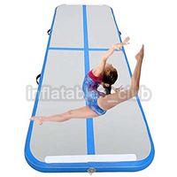 2019 Nueva alfombra de gimnasio inflable Tamaño grande 7 * 1 * 0.1M Alfombrillas de pista de aire Piso de aire inflable DEW para uso doméstico Precio bajo