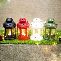 Weihnachten Europäischen Schmiedeeisen Winddicht Lampe Kerzenhalter Desktop Dekorative Kerzenständer Weihnachtsschmuck Für Hausgarten