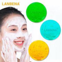 LANBENA Tiefenreinigung Handgemachte Seife Frauen Gesichts-Reinigungsmittel Skin Care Feuchtigkeitsspend Mitesser entfernen Gesichts-Akne-Behandlung