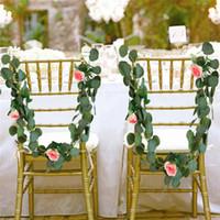 2 * 2 متر الزفاف الديكور الاصطناعي الأخضر الأوكالبتوس فاينز الروطان الاصطناعي النباتات وهمية اللبلاب اكليلا جدار ديكور حديقة العمودية