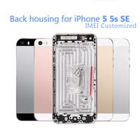 20pcs retour logement cadre en métal de remplacement pour iphone 5 5s batterie couvercle de la porte arrière couverture châssis cadre livraison gratuite