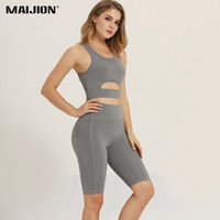 MAIJION Seamless Exercise Yoga Set For Female Training Sport...